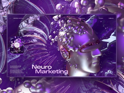 Neuro Marketing marketing render c4d42 c4d cinema 4d 3d art 3d artist 3d landing page one page ui web design webdesign design ui  ux