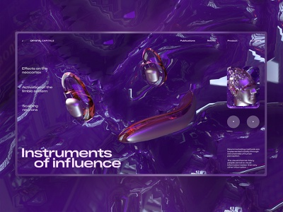 Instruments of influence c4d42 c4d render 3d art 3d cinema 4d cinema4d one page uidesign interface design ui elements landing page webdesign design ui  ux web design ui