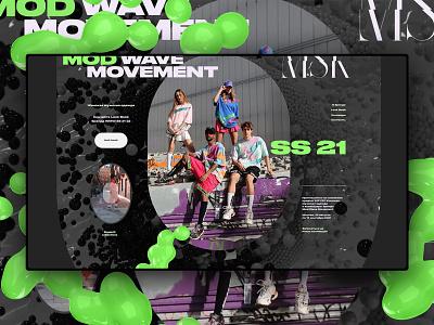 Сайт на Тильде MWM SS 21 graphic design landing page cinema4d c4d 3d ui figma madeontilda tildapublishing tilda