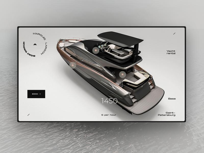 Yacht rental concept 1 web desgin interface ux uiux one page uidesign interface design ui elements landing page design web webdesign ui  ux web design ui
