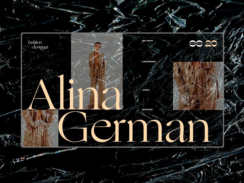 Alina German SS 20 / home page ui elements landing page web design webdesign ui  ux ui web design alina german fashion design fashion brand fashion