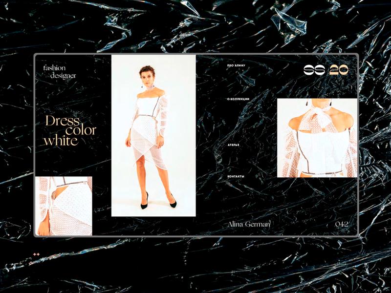 Alina German SS 20 / Dress color white 042 web design ux one page interface design ui elements landing page web webdesign uidesign ui fashion design fashion alina german