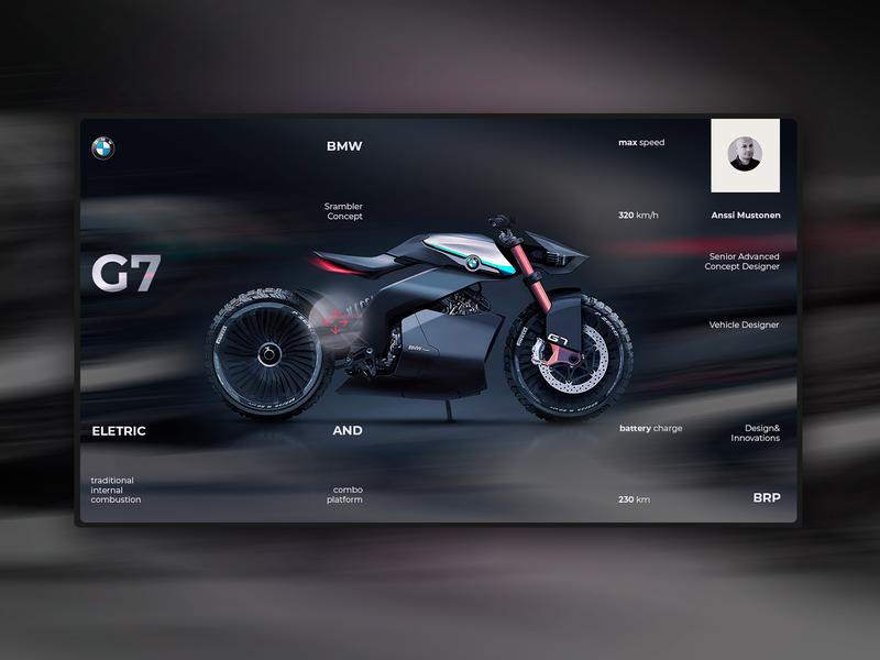 bmw g7 home page concept ver. 2.0 uidesign interface design landing page ui elements web design webdesign ui  ux web design ui