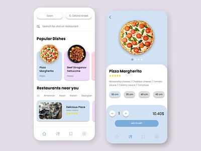 Food delivery app concept delivery app food delivery food and drink food app web app concept uiux uidesign