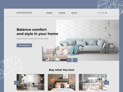 Interior - furniture store light blue comfort zone comfortable homepagedesign homepage home page home style uiux furniture store furniture interior interface