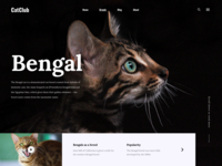 Cat club home page