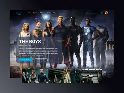 The Boys TV Show landing page theboys amazon superheroes the boys tv series tv shows uiux concept web uidesign main page