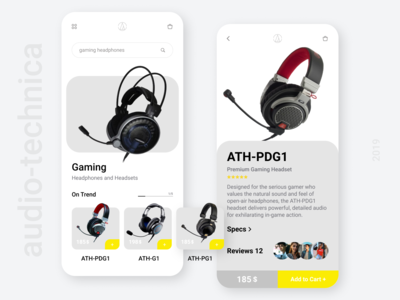 Mobile App for Audio-technica store
