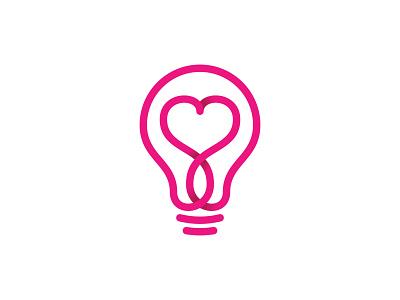Smart Love Logo Designs heart logo logo for sale creative logo modern logo feminine logo monoline logo minimalist logo simple logo pictorial mark unique design sophisticated logo branding logo design dating logo app logo smart logo education logo light bulb logo love logo letter s logo