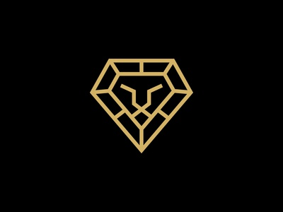 Lion Head Diamond Logo Designs