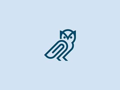 Owl Paperclip Logo Designs branding design brand identity brand design creative logo logo logos logo for sale branding owl logo owls owl paperclip logo paperclip luxury logo sophisticated logo minimalist logo simple logo monoline logo pictorial mark logo design