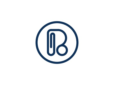 Initials Letter R Paperclip Logo Design