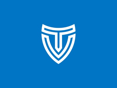 Letter T And V Shield Logo Designs logodesign letter vt letter tv shield logo letter v letter t monogram logo monogram minimalist logo monoline logo pictorial mark sophisticated logo logos for sale logo for sale logos simple logo logo unique design branding logo design