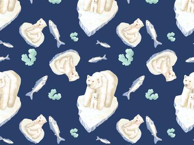 Polar bears on ice!
