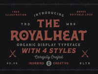 The Royalheat + Extras skull vector adventure outdoor lettering design logo typography type illustration