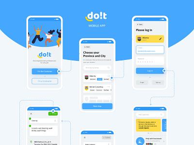 Doit - mobile app vue.js ui  ux app design app