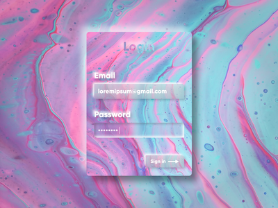Exploring Neumorphism glass blur figma card email concept login sign in abstract skeuomorphism neumorphism neumorphic ux ui design