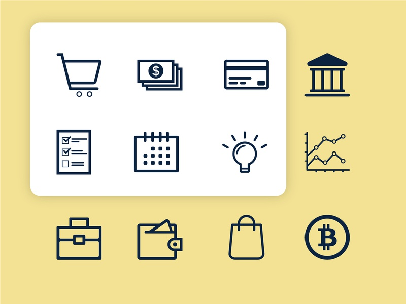 Icons Pack - Finance icon set icon pack design iconography finance flat vector icon design minimal icon