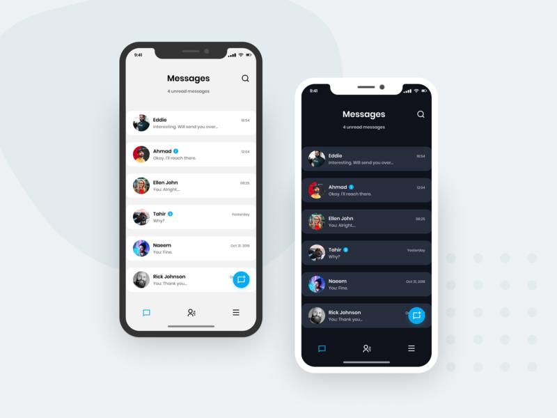 Simple Message App figmadesign contact chat concept design design concept figma iphonex message app ux ui flat vector minimal design