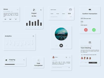 Exploring Neumorphism (Cards) card design cards concept neumorphism skeumorphism skeuomorph web app ux ui vector minimal design