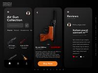 Airgun online store | mobile app ui design