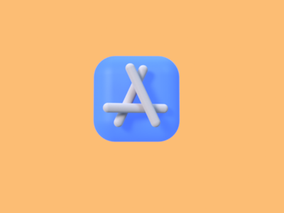 A for 3d 3d apple icon