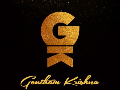 Gold logo in black