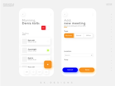 Bright mode | app ui design