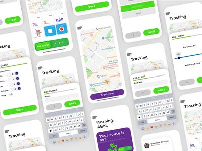Employee traker | app UI | prototyping | minimal UX