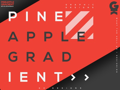 Pinapple gradient | Typography