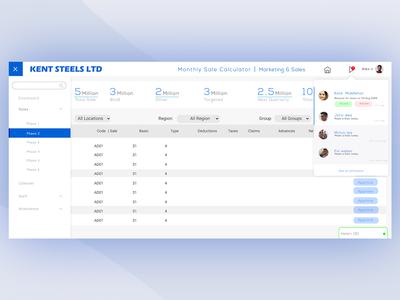 Sales Management   Web app UI