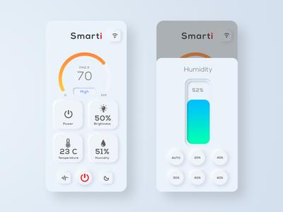 Skeuomorph smart home app