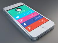 Social Profile Flat UI Dashboard
