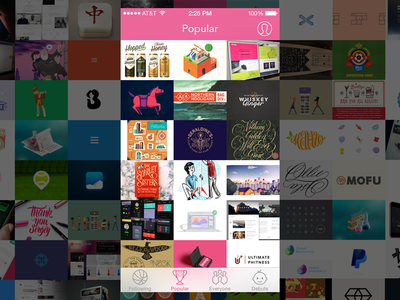 Posterized App (Popular) - Design Inspiration from Dribbble