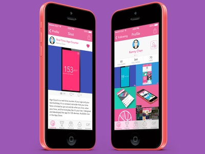 Posterized - Like Dribbble Shots & Follow Users ios dribbble like follow api ios 8 posterized mobile app profile free flat