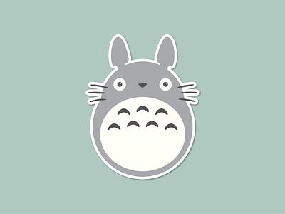 Totoro Sticker studio ghibli design sticker totoro