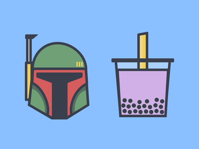 Boba milk tea star wars boba fett boba