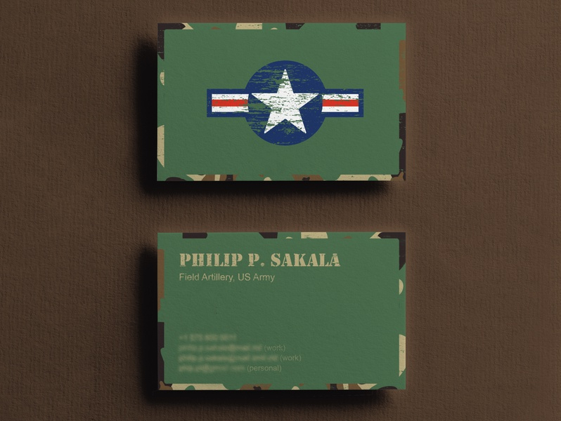 Business Card army usa business card design business card design