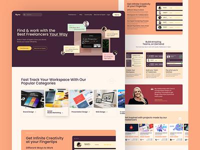Nynx Home Page Design branding logo illustration web design website banner design banner ui design ui design
