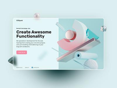CGSpart Home Page Design branding logo illustration web design website banner design banner ui ui design design