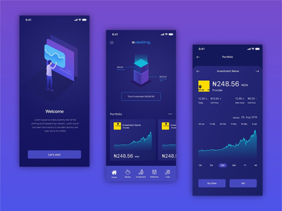 Investment App UI/UX