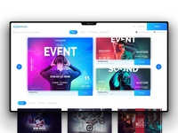 Eventmoon Website UI
