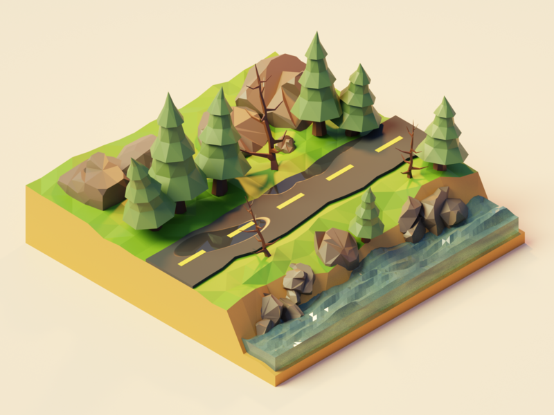 Polygon Runway: Forest Road