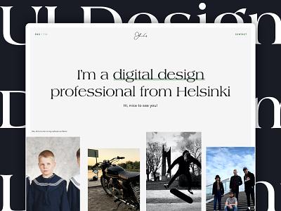 New personal portfolio site! scandinavian style development parallax locomotive portfolio portfolio site website helsinki ui