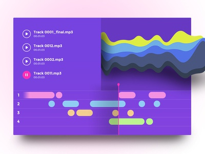 Day #49 - Music editor freebie finland helsinki timeline 100daysofui purple editor player music dailyui psd freebie