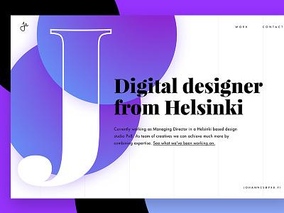 Day #93 - Portfolio landingpage finland helsinki dailyui ui website portfolio
