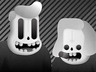 Day #94 - Illustration halloween cigar dead skull 100 days of ui daily ui black and white character illustration