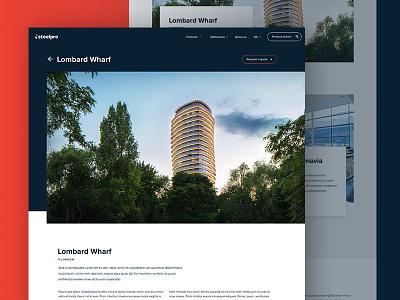 Day #99 - Website UI freelancer agency helsinki london architecture homepage wordpress ux ui website
