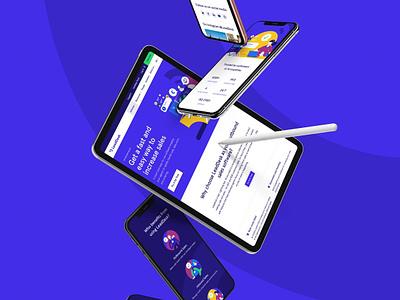LeadDesk Website UI finland wordpress blue leaddesk website webdesign dailyui design helsinki ui