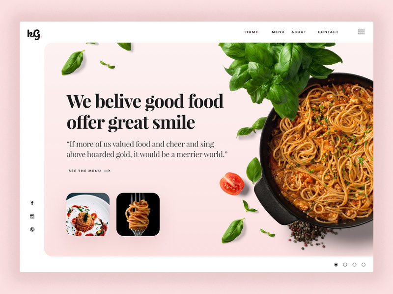 Rebound - Restaurant landing page design food hero rebound restaurant website dailyui helsinki ui